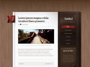 Leatherbound WordPress Theme