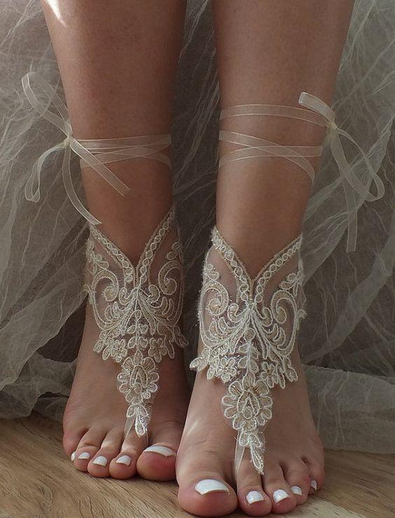 barefoot wedding shoes - photo #15
