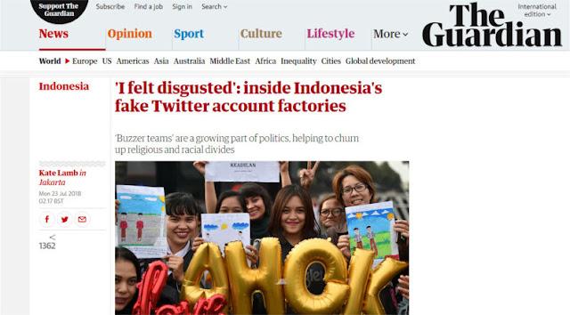 Harian Inggris The Guardian Bongkar Pabrik Akun Twitter Palsu Pendukung Ahok