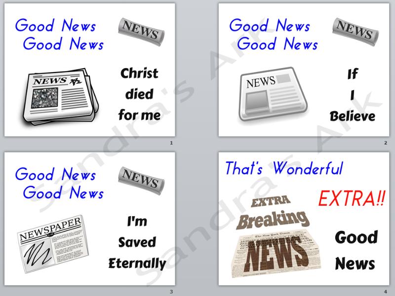 Sandras Ark Christian Songs For Kids Good News Good News