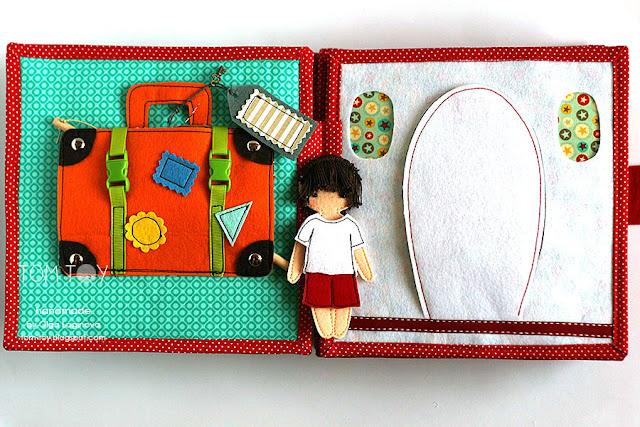 Suitcase Plane quiet book page
