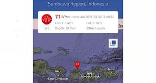 Gempa Berkekuatan 7 SR Kembali Guncang Lombok