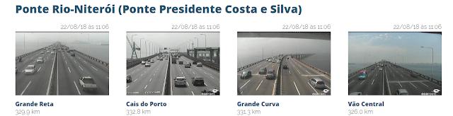 Imagens ao vivo da Ponte Rio Niterói