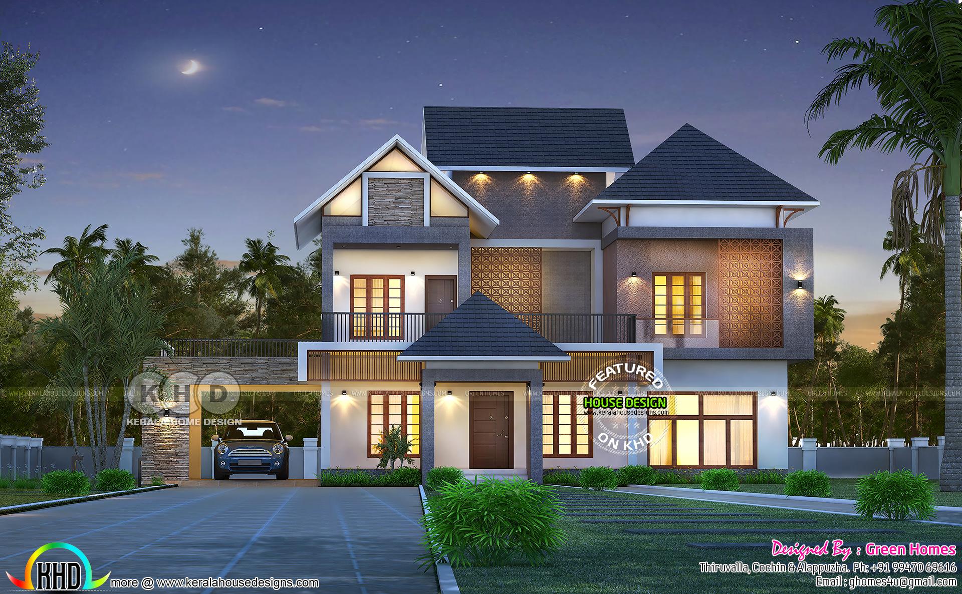 February 2020 House Designs Grand Kerala Home Design Kerala Home Design And Floor Plans 8000 Houses