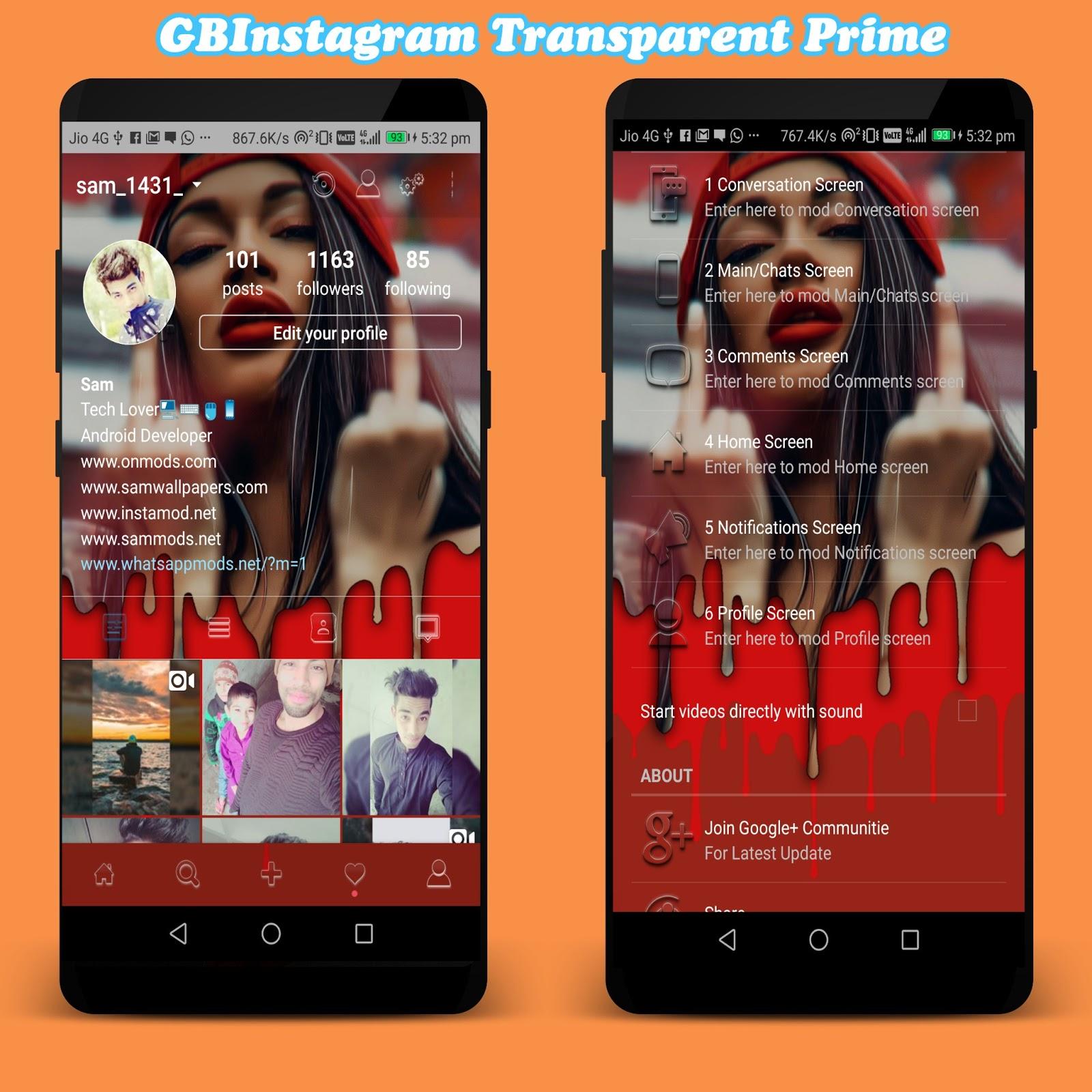 GBInstagram Transparent Prime v1 30 Latest Version Download