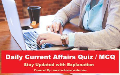 Daily Current Affairs MCQ - 10th October 2017