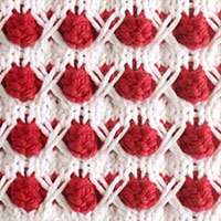 Snowball Knitting Stitch. Bobble Knititng. Bobble Stitch Pattern