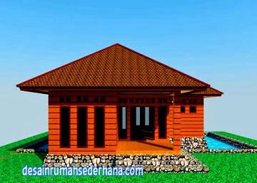 desain rumah kayu mungil bisa untuk villa | desain rumah