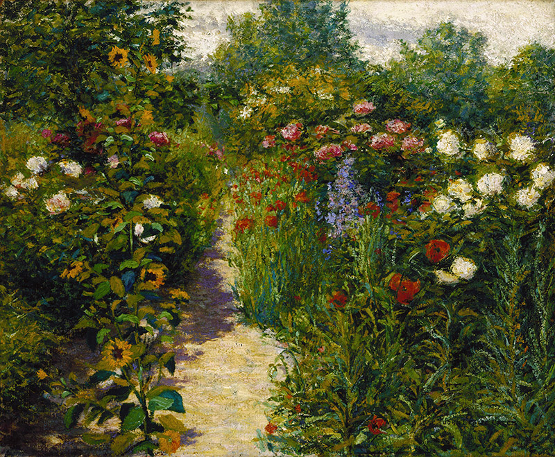 John Leslie Breck, Garden at Giverny (In Monet's Garden) 1887-1901 ca