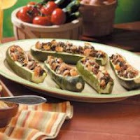 Cheesy Beef  Stuffed Zucchini Recipe | Healthy Beef Recipe