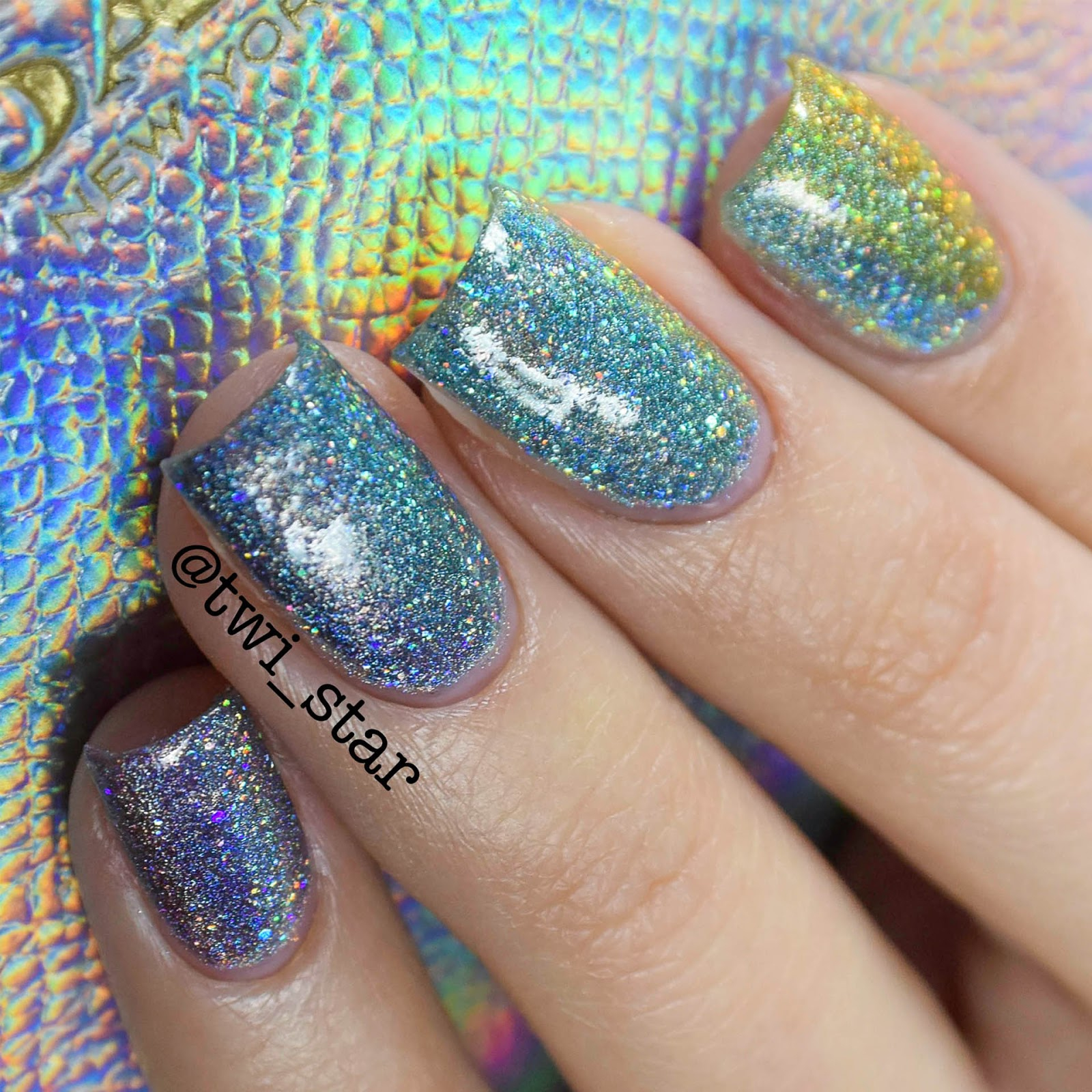 Twi Star Nail Art Blog Coach Holo Purse Inspired Rainbow Gradient