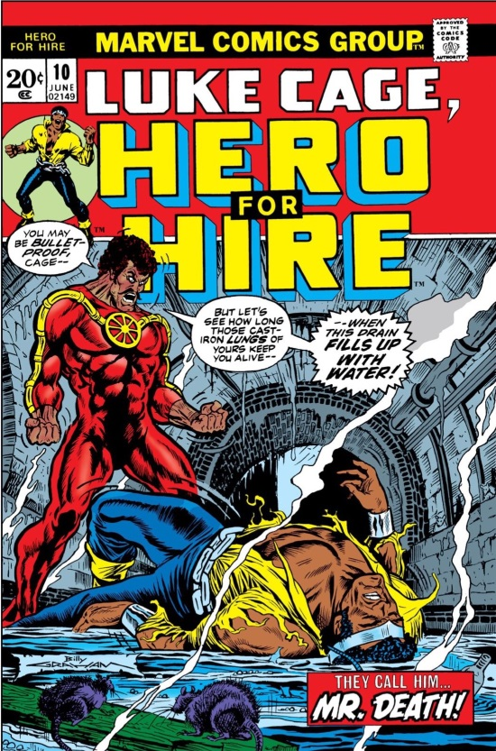 Portada de Luke Cage, Hero for Hire #10, obra de Billy Graham
