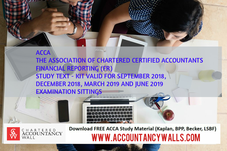 Latest ACCA FINANCIAL REPORTING (FR) BOOK AND KIT 2018