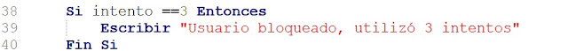Mensaje usuario bloqueado en PSeInt