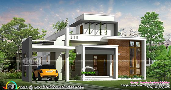 1515 square feet modern single floor house rendering