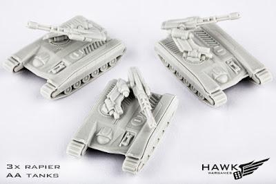 3x Rapier AA Tanks