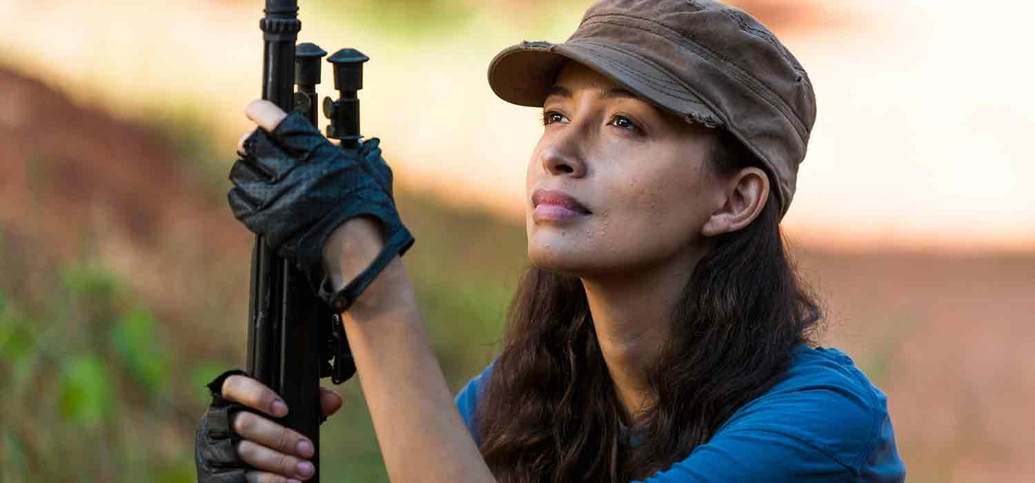 Rosita, en el episodio de The Walking Dead 7x14 The Other Side