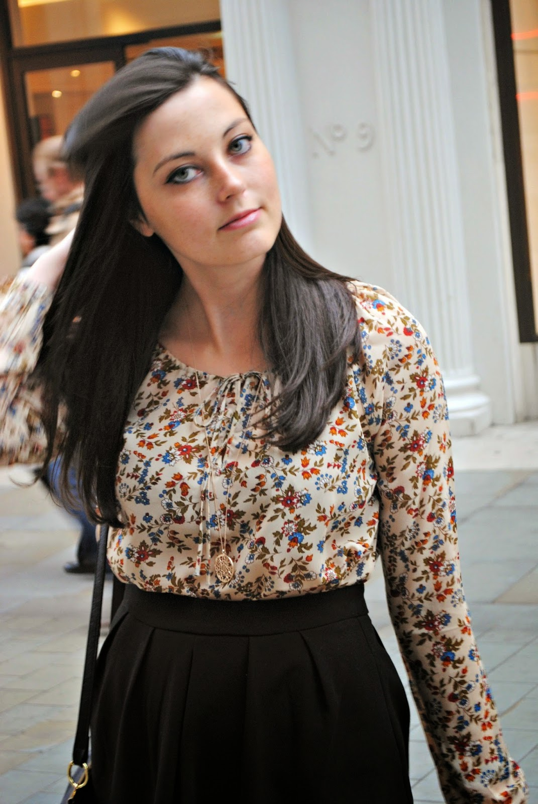 Stradivarius boho vintage blouse fashion post