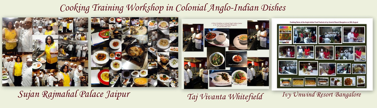 Cooking Training Workshops in Colonial Anglo-Indian Dishes