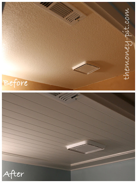 how to hang bead board on your ceiling