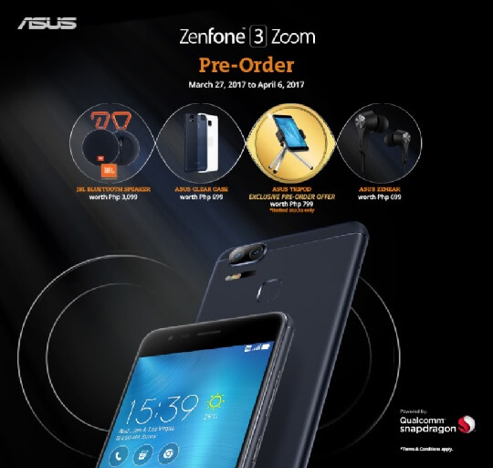 ASUS Zenfone 3 Zoom Up For Pre-Order with Lots of Free Items