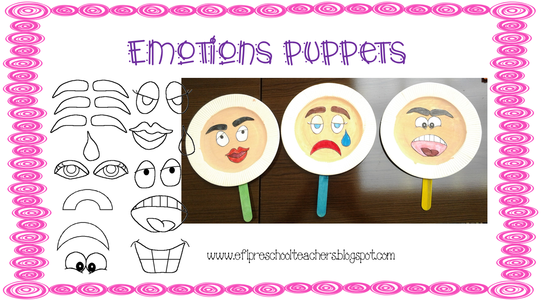 Esl Efl Preschool Teachers Feelings Emotions Theme
