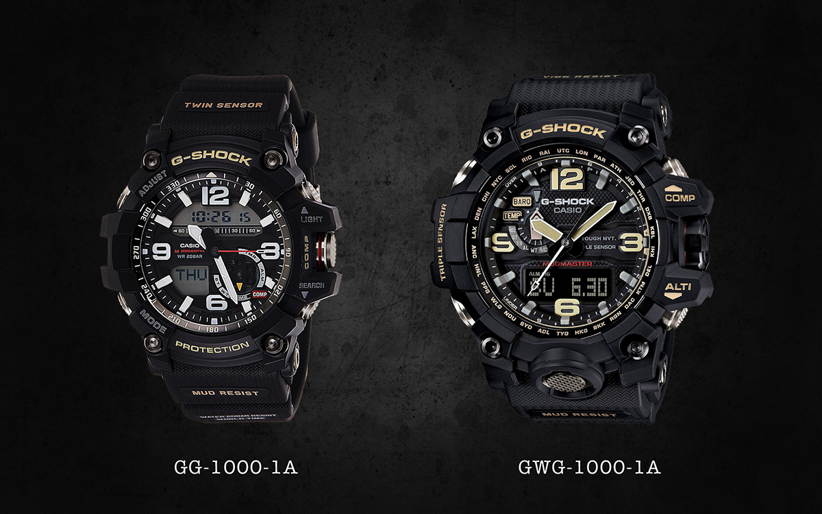 CASIO G Shock MUDMASTER comparison: GWG 1000 vs. GG 1000