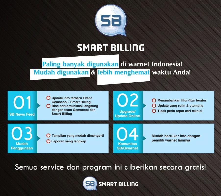 Software smart billing server dan client warnet terbaru.