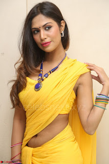 Nishigandha in Yellow backless Strapless Choli and Half Saree Spicy Pics 125.JPG