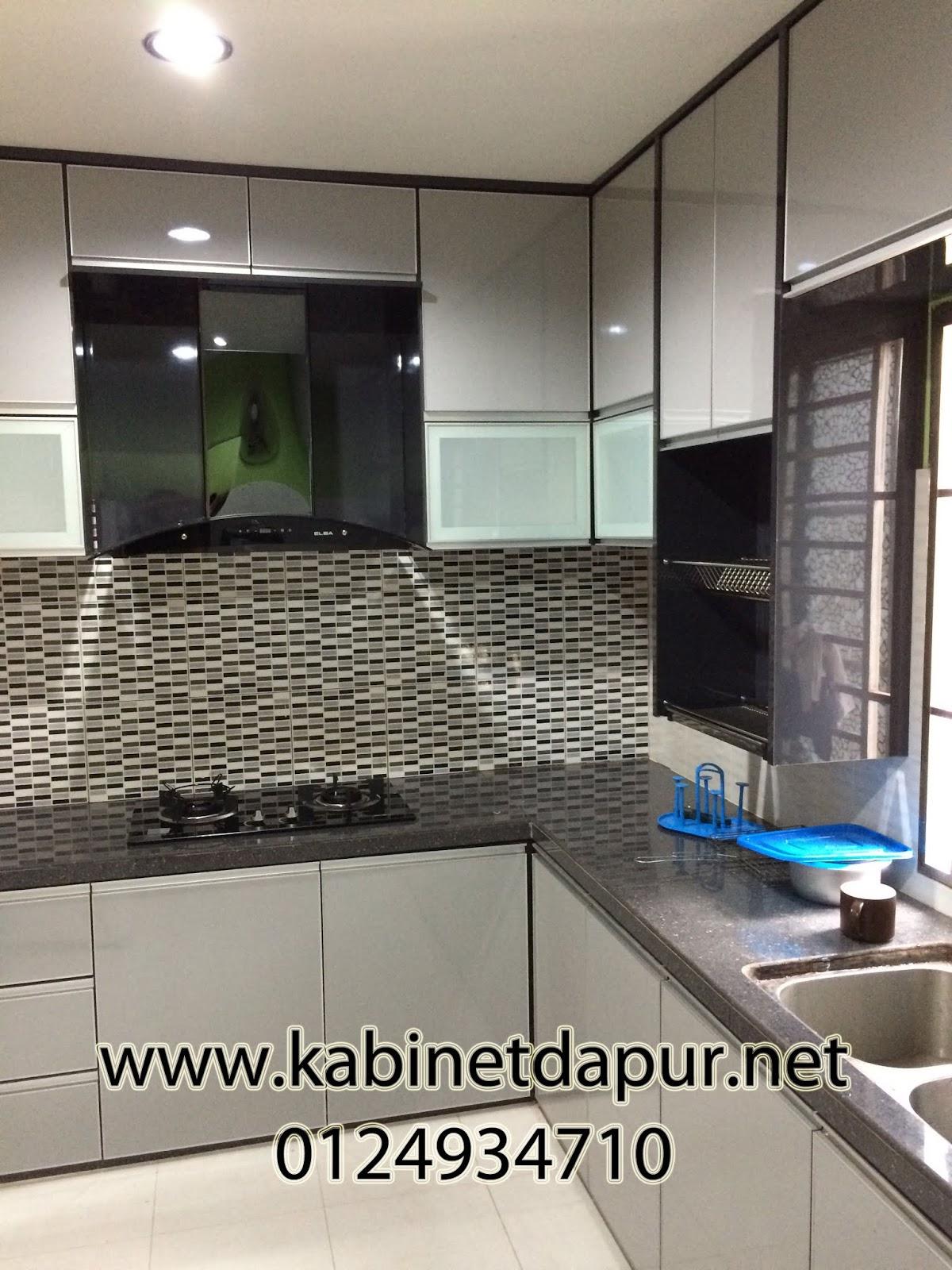 Ini Projek Kabinet Dapur Terbaru Kami Di Taman Cermai Jitra Table Top Konkrit Mozek 2 Kaki Pintu Material Formika Aluminium Handle
