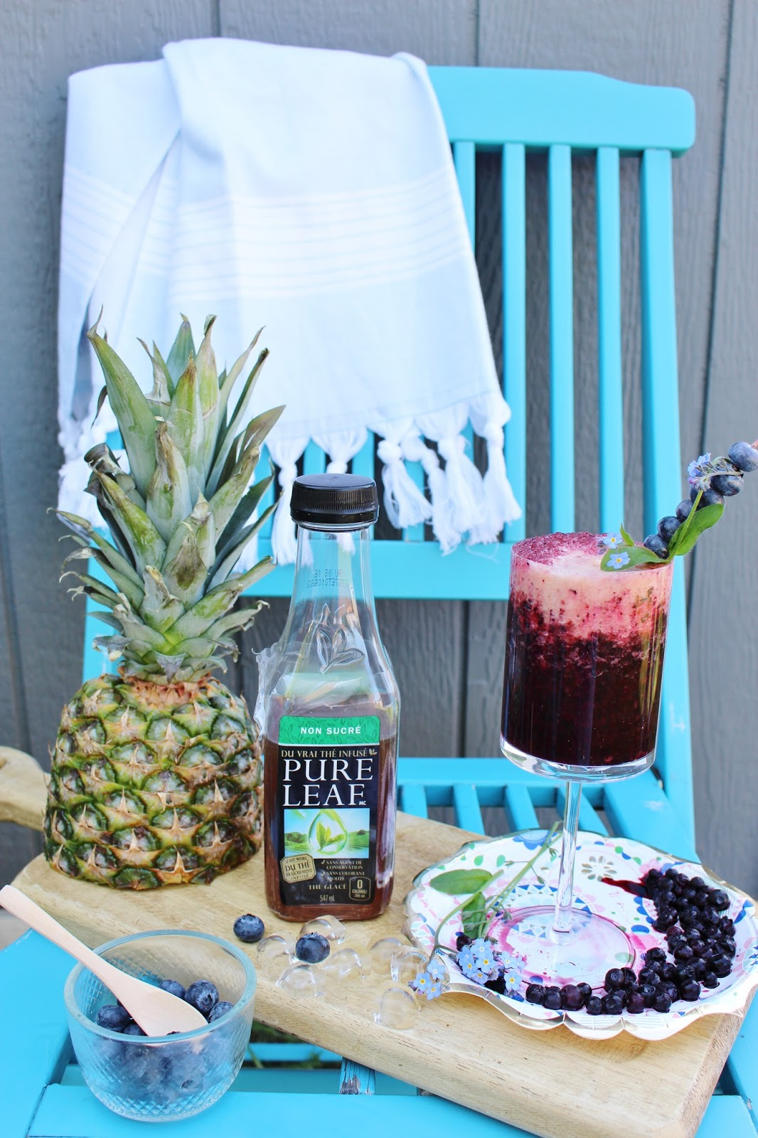 Pure leaf unsweetened iced tea recipes - blueberry tea puree with vodka