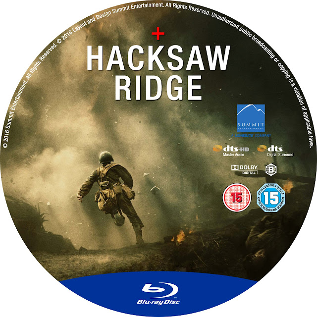 Hacksaw Ridge Bluray Label