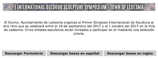 I SIMPOSIO INTERNACIONAL DE ESCULTURA LEDESMA