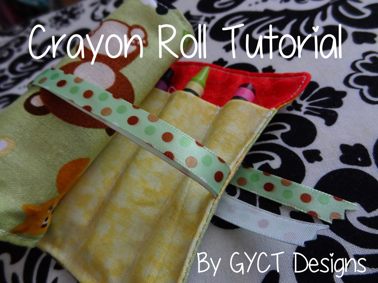 Crayon Roll Tutorial and Free Pattern