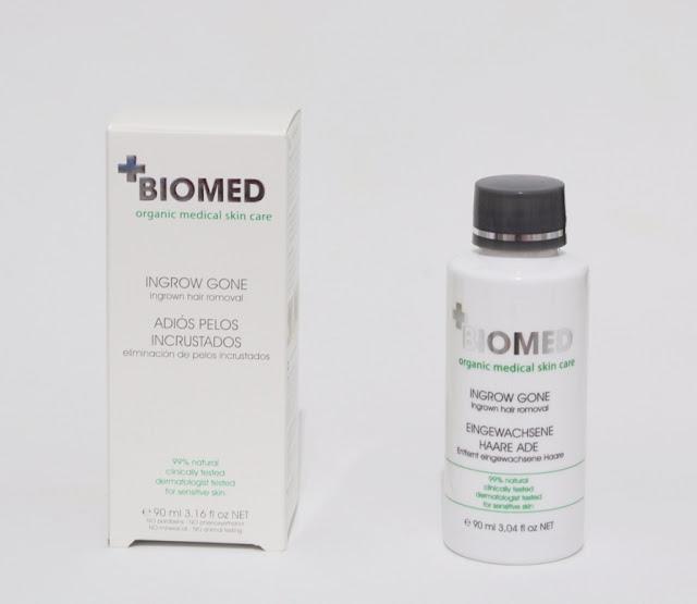 Adiós pelos incrustados tras la depilación Biomed
