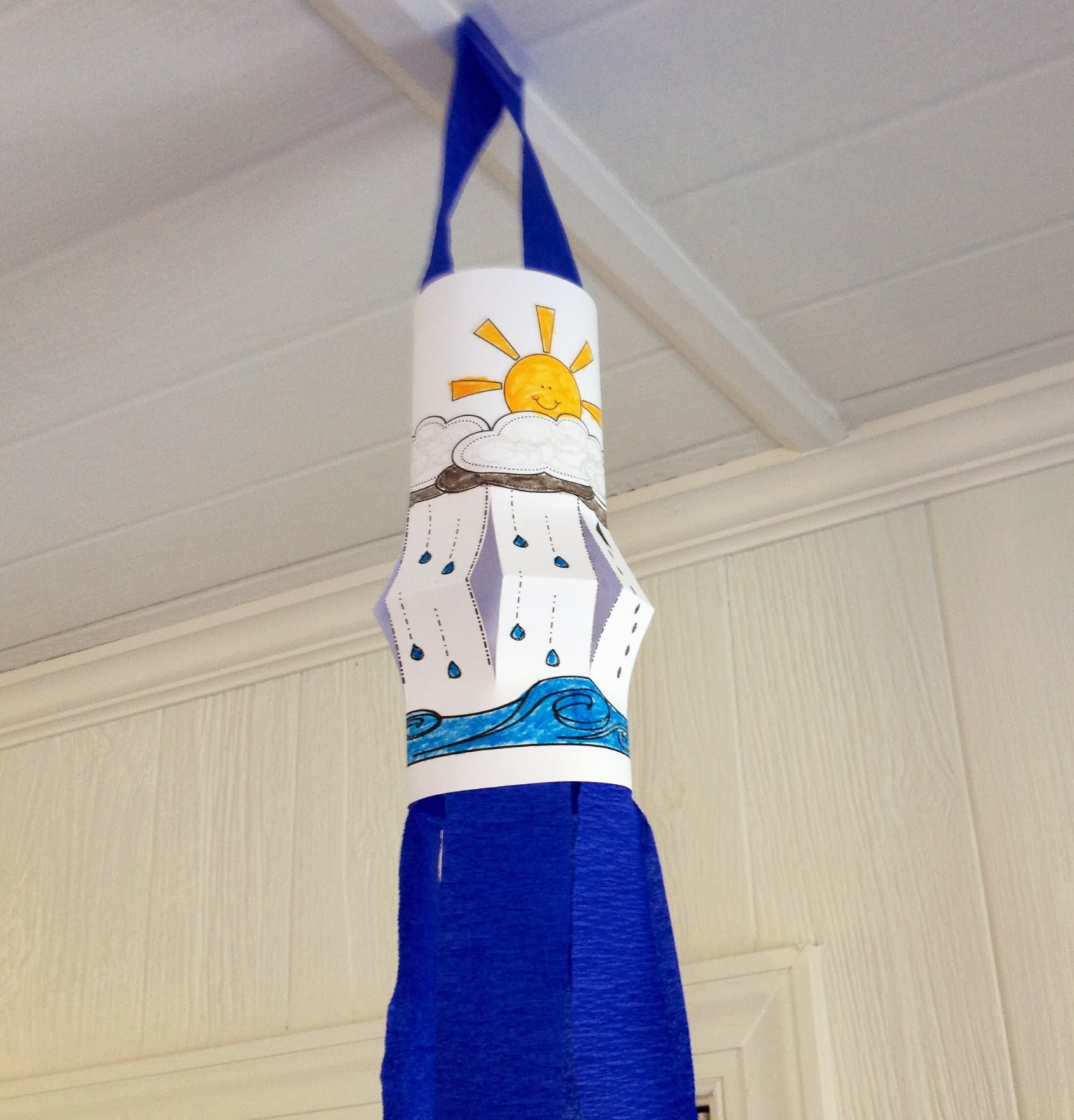 Sweet Tea Classroom Water Cycle Wind Sock Craft For Weather Science Fun
