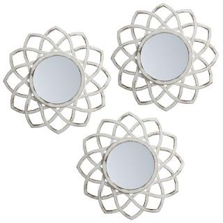 espejos vintage flor
