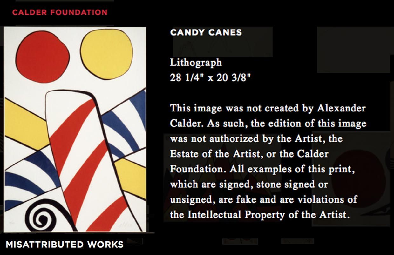 Misattributed Calder Lithograph Documented by Calder Foundation