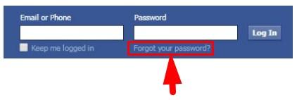 Online Facebook Password Recovery Tool