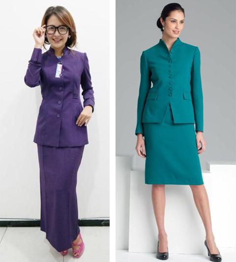 Baju Batik Guru Perempuan: 11+ Gambar Model Baju Seragam Kerja Dinas Guru Terbaru 2017