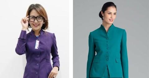 11 Gambar Model Baju Seragam Kerja Dinas Guru Terbaru 2020