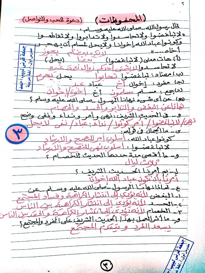 مراجعة اللغة العربية للصف الخامس الابتدائي ترم ثاني أ/ جمعة قرني لبيب 3