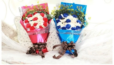 Kertas Buket Bunga / Flower Bouquet Wrapping Paper (Seri BJ)
