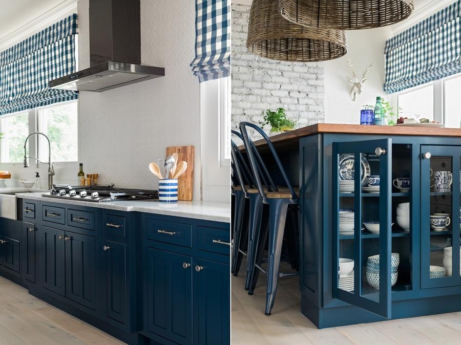 Niebieskie szaleństwo - metamorfoza całego domu, wystrój wnętrz, wnętrza, urządzanie mieszkania, dom, home decor, dekoracje, aranżacje, niebieski, blue, before and after, kuchnia, kitchen, wyspa kuchenna