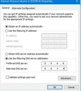 mengganti dns untuk  Mengatasi Server not Found