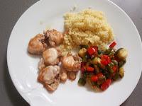 conejo con cuscus y verduras