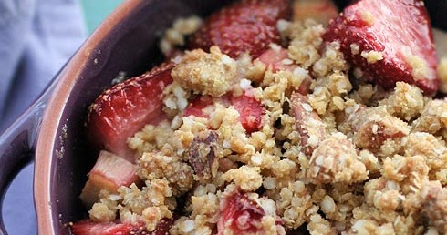 Gluten-Free Goddess Recipes: Gluten-Free Strawberry Rhubarb Crisp ...