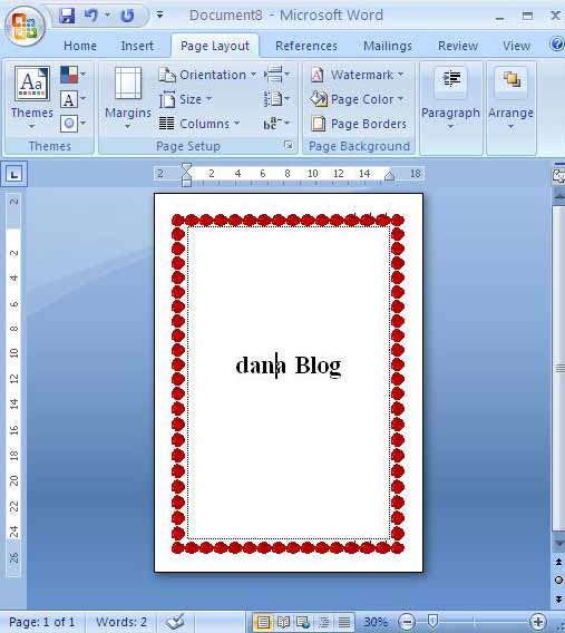 Cara Setting Page Borders Pada Office Word Agar