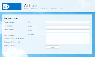 SharePoint Online Contact Us Form