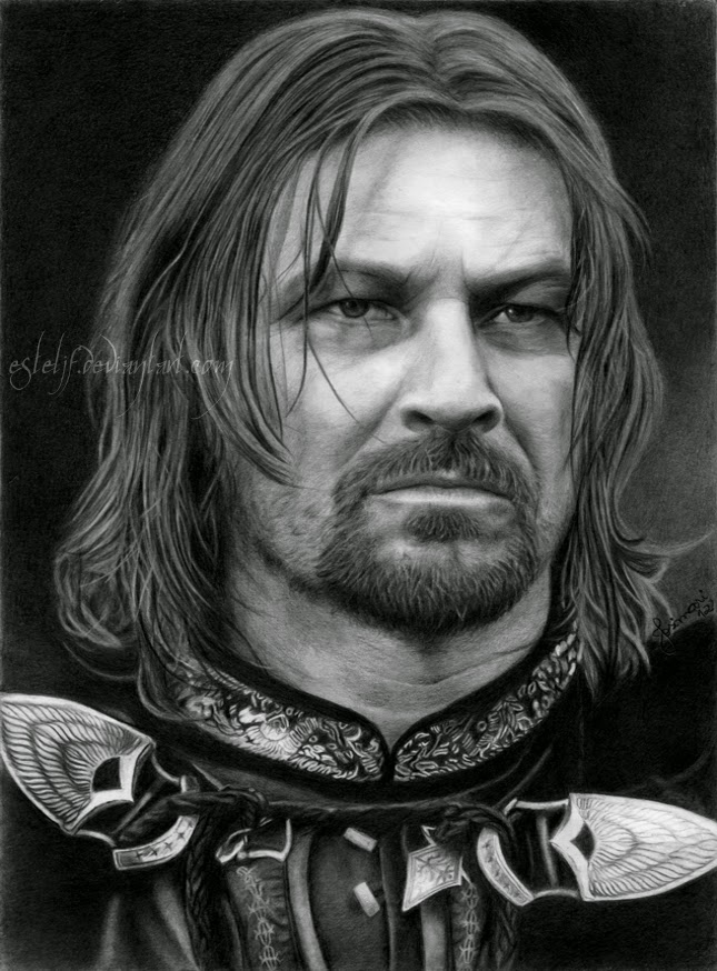 11-Boromir-Sean-Bean-Josi-Fabri-Esteljf-The Hobbit-LotR-www-designstack-co
